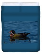 Adult Male Wood Duck Duvet Cover