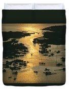 Aerial Shot, Tangier Island, Chesapeake Duvet Cover