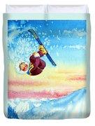 Aerial Skier 13 Duvet Cover