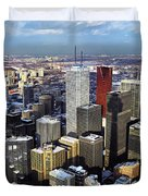 Aerial View From Cn Tower Toronto Ontario Canada Duvet Cover