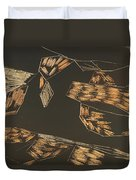 Aerial View Of A Logging Mill Duvet Cover