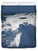 Aerial View Of Glaciated Mount Douglas Duvet Cover