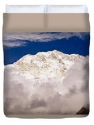 Aerial View Of Mountains, Annapurna Duvet Cover