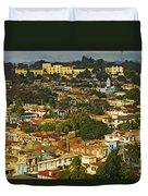 Aerial View Of Santiago De Cuba, Cuba Duvet Cover