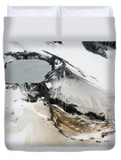Aerial View Of Snow-covered Ruapehu Duvet Cover