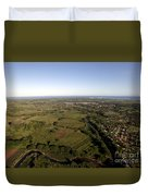 Aerial View Of The Coast Town Of Nadi Duvet Cover
