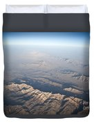 Aerial View Of The Mountainous Duvet Cover