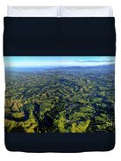 Aerial View Of The Nadi River Winding Duvet Cover