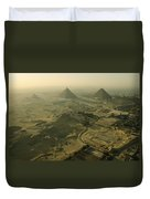 Aerial View Of The Pyramids Of Giza Duvet Cover