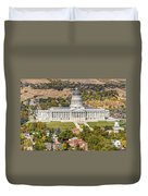 Aerial View Of Utah State Capitol Building Duvet Cover by Gary Whitton