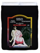 Affenpinscher Some Like It Hot Movie Poster Duvet Cover