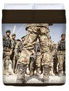 Afghan Air Force Members Get Briefed Duvet Cover