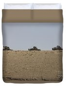 Afghan Army Convoy Drives Duvet Cover
