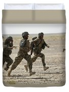 Afghan National Army Soldiers Run Duvet Cover