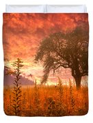 Aflame Duvet Cover by Debra and Dave Vanderlaan