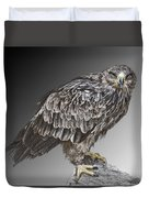 African Tawny Eagle Duvet Cover