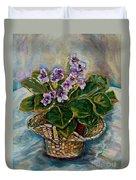 African Violets Duvet Cover by Carole Spandau