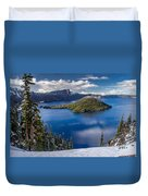 Afternoon Clearing At Crater Lake Duvet Cover