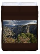 Afternoon Clouds Over Black Canyon Of The Gunnison Duvet Cover