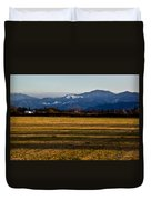Afternoon Shadows Across A Rogue Valley Farm Duvet Cover