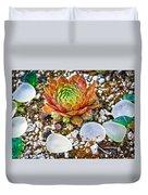 Agates And Cactus Duvet Cover