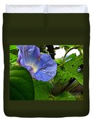 Aging Morning Glory Duvet Cover