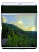 Ah To Live On Vail Mountain Duvet Cover