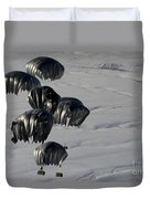 Air Delivery Cargo Is Released Duvet Cover