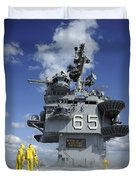 Air Department Sailors Test Duvet Cover by Stocktrek Images