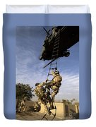 Air Force Pararescuemen Are Extracted Duvet Cover