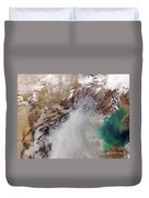 Air Pollution Over China Duvet Cover