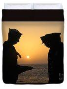 Airman Presents Commanding Officer Duvet Cover