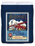 Airport Whiskey Label Duvet Cover