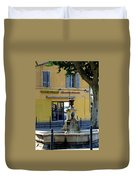 Aix En Provence Fountain Duvet Cover