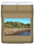 Alabama Bayou In Autumn Duvet Cover