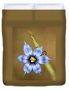 Alabama Blue-eyed Grass Wildflower - Sisyrinchium Angustifolium Duvet Cover