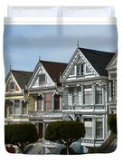 Alamo Square San Francisco California Duvet Cover