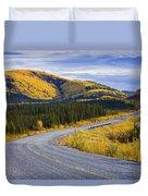 Alaska Highway Near Beaver Creek Duvet Cover