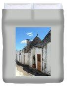 Alberobello Street Scene Duvet Cover