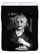 Albert Einstein, German-american Duvet Cover