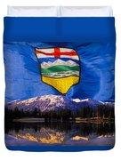 Albertas Rocky Mountains Duvet Cover