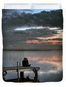 Albufera. Couple. Valencia. Spain Duvet Cover
