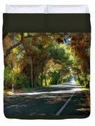 Albufera Road To El Palmar. Valencia. Spain Duvet Cover