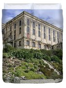 Alcatraz Cell House West Facade Duvet Cover