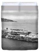 Alcatraz Island And Prison Duvet Cover