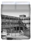 Alcatraz Model Industries Building Duvet Cover