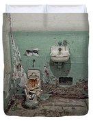 Alcatraz Vandalized Cell Duvet Cover