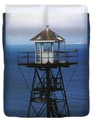 Alcatraz Watch Tower Duvet Cover by Paul W Faust -  Impressions of Light