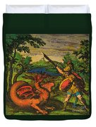 Alchemical Knight Slays The Primordial Duvet Cover by Science Source