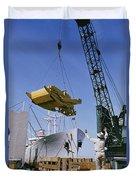 Alcoa Ship Destines For South America Duvet Cover